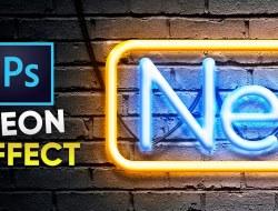Neon Text Effect Tutorial