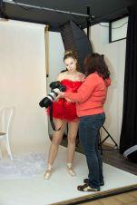 Foto: Frank Eckgold   Making of aus einem Shooting mit Raffaela