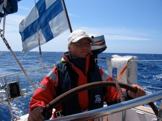 Me at the helm.