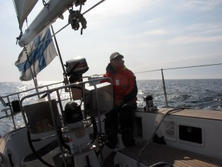 Sailing in the North Sea.