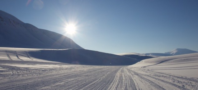 The snowmobile highway.
