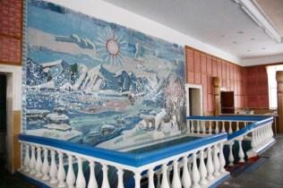 Mosaics at the canteen.