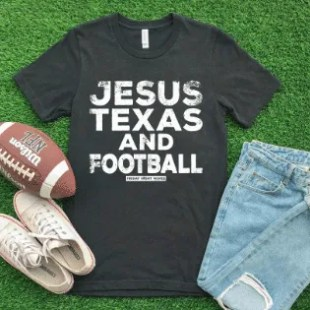 jesus texas football game day apparel