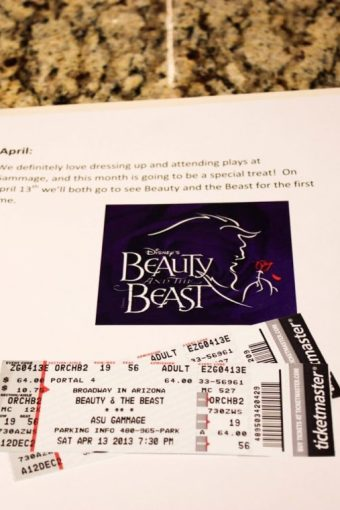 12 Months of Dates: April: Beauty and the Beast the Broadway Musical