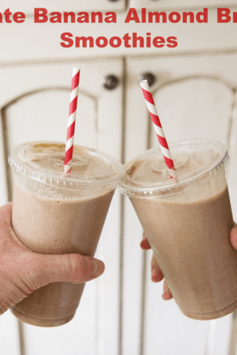 A Chocolate Almond Banana Smoothie Kind of Morning