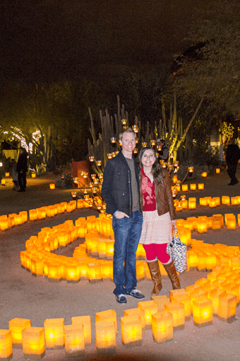 Las Noches de las Luminarias at the Desert Botanical Garden