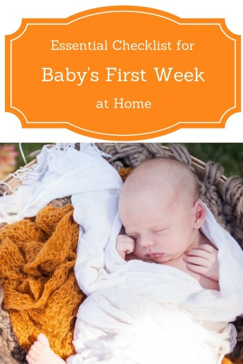 The First Weeks After Baby Essentials Checklist