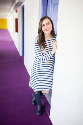 The Classic Striped Dress