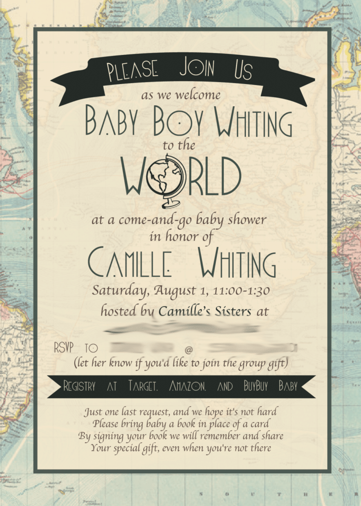 One of the Best Baby Shower Ideas we're still loving two years later: Baby Shower Invite Welcome to the World