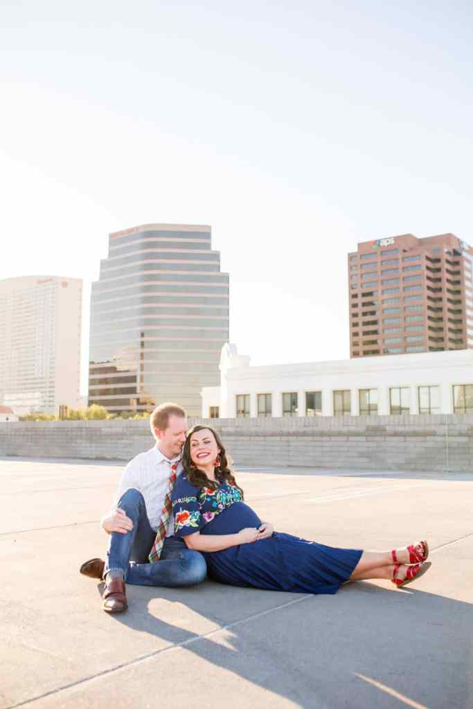 Rooftop Maternity photo shoot