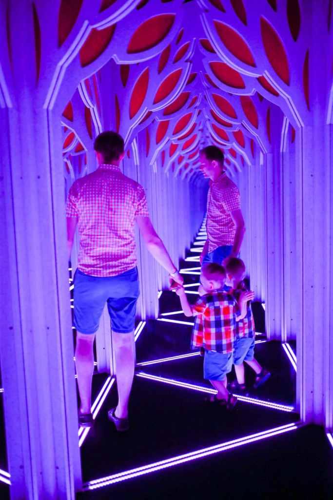 Family fun at the mirror maze