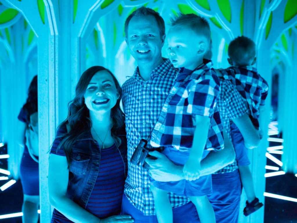 Mirror Maze Family date night