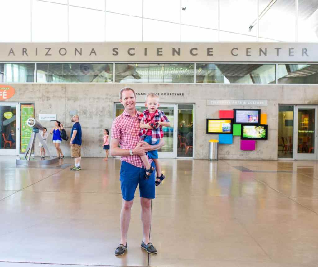 Arizona Science Center with a toddler