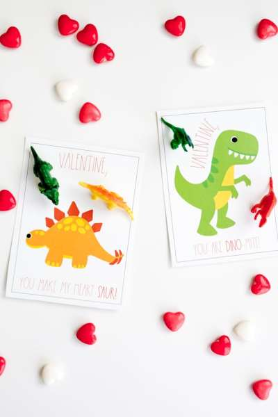 Dinosaur Valentines Day Cards: Easy Last-Minute, Free Printable Valentines
