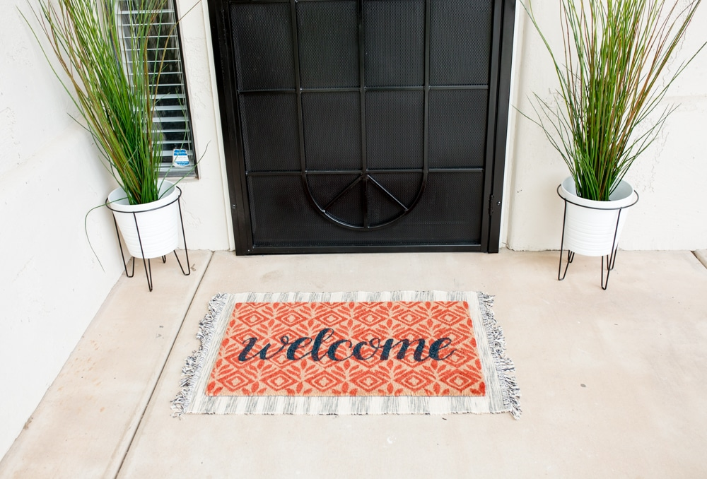 Front Porch makeover with before and after pictures