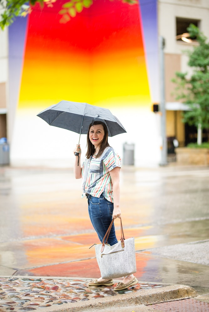 Rainbow Striped top for women