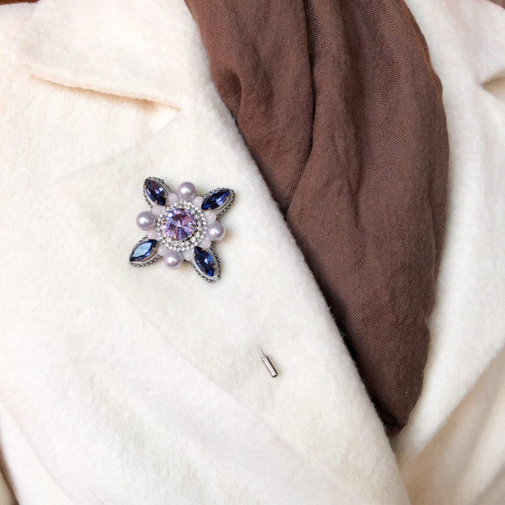 брошь классика жемчуг агат стразы вышивка сваросвски брошка украшения орден