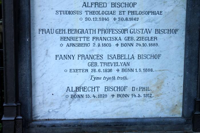 Grabinschrift Alter Friedhof Bonn