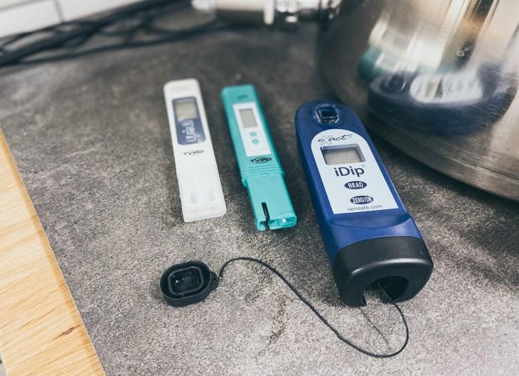 Leitfähigkeitsmesser, pH Messgerät und der iDip