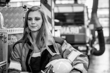 Fire brigades girl (backstage)