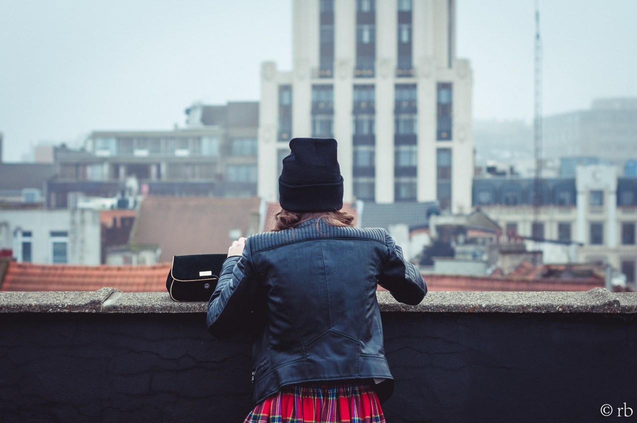 A rooftop adventure. Antwerp, Flanders.
