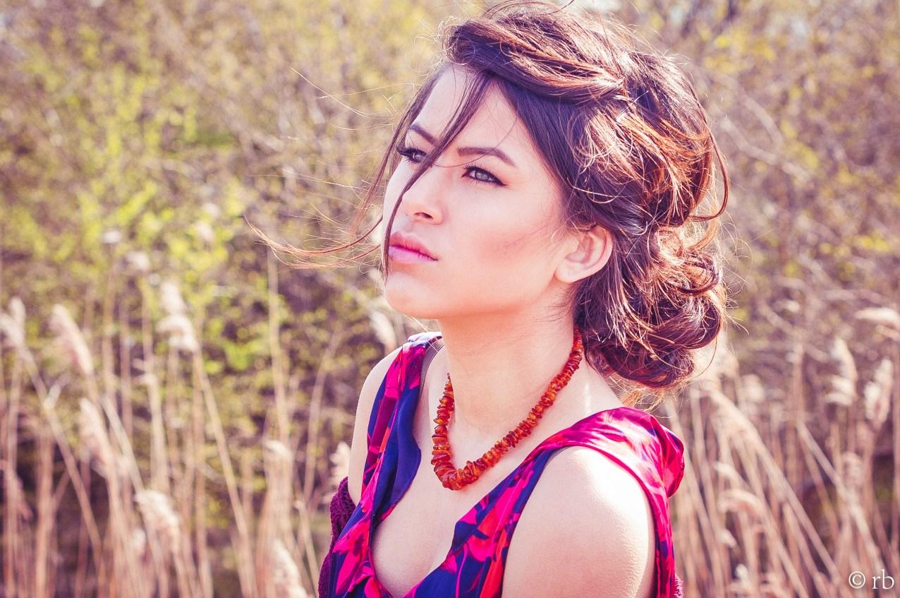 Green, purple, gold. Spring in Copenhagen. Model Photography.