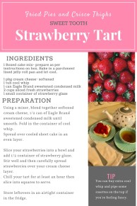 Strawberry Tart Recipe Card Blog Graphic