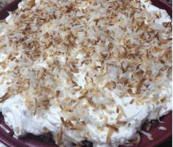 Coconut Cream Pie with Gingersnap Coconut Crust Recipe