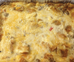 Creamy Potato O'Brien Breakfast Casserole