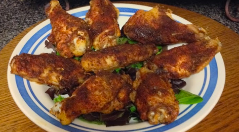 Baked Blackened Wings Recipe
