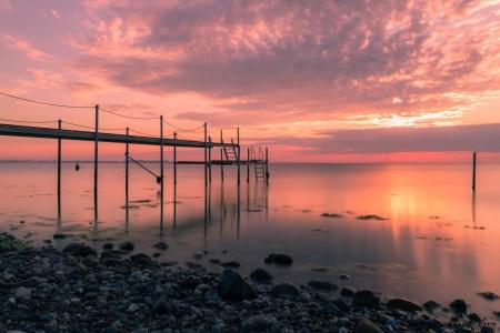 Solopgang på Tårup Strand