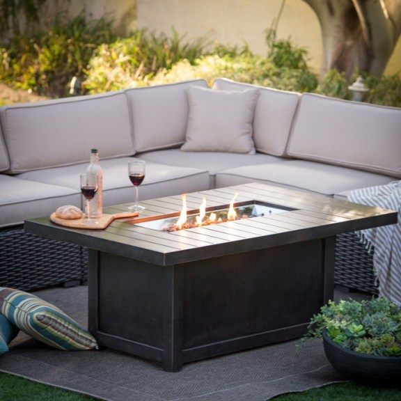 Napoleon Rectangle Outdoor Fire Table Friendly Fires
