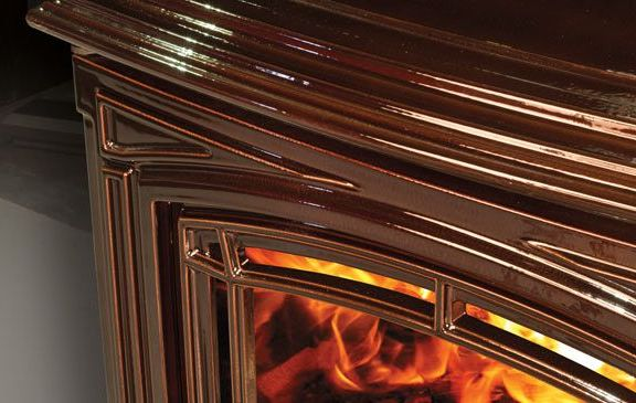 Enviro Boston 1700 Wood Stove Enamel Detail
