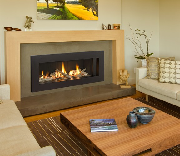 Valor L2 Linear Gas Fireplace Driftwood Medium Surround