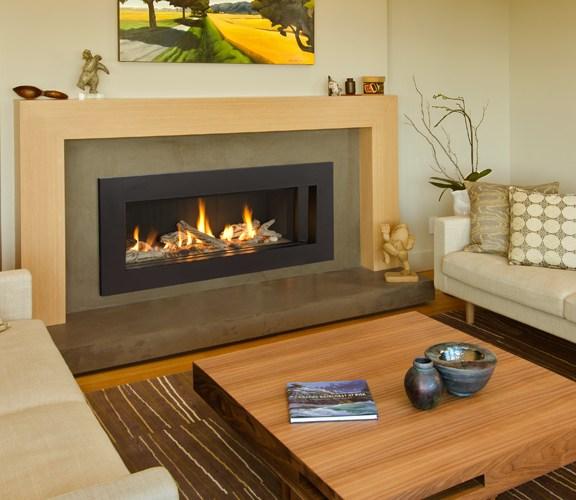 Valor L2 Linear Gas Fireplace Driftwood Medium Surround