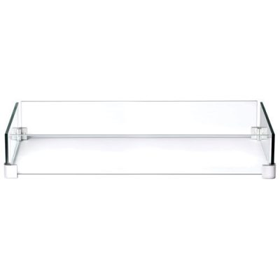 "Napoleon Hampton Rectangle Patioflame Windscreen - 32"" x 6"" x 18"" - Glass - Online Only 