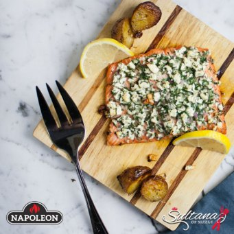 Recipe: Grill Roasted Salmon With Fresh Herbs & Feta   Friendly Fires