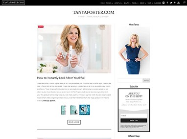 TanyaFoster.com:  blog design and site management