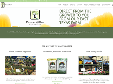 Bruce Miller Nursery: web design, email campaigns & social media