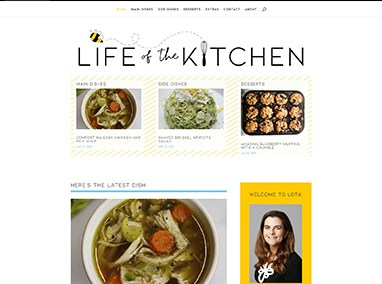 Life of the Kitchen: blog design, email campaign, and maintenance
