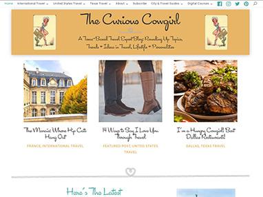 thecuriouscowgirl.com website image