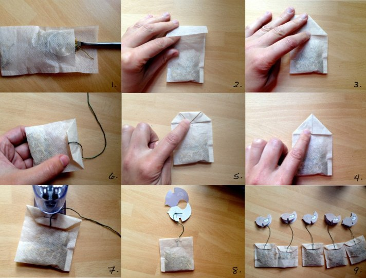 making tea bags