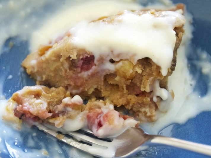 a healthier plum steamed pudding
