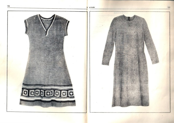 Good old days style knitted dresses