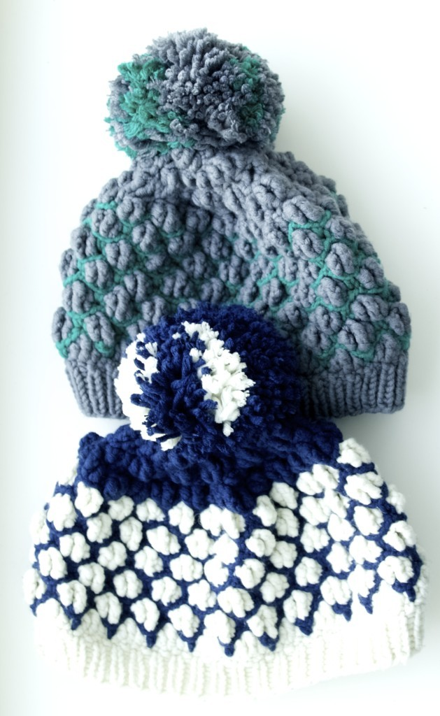 Sister hats, knit and crochet pattern included