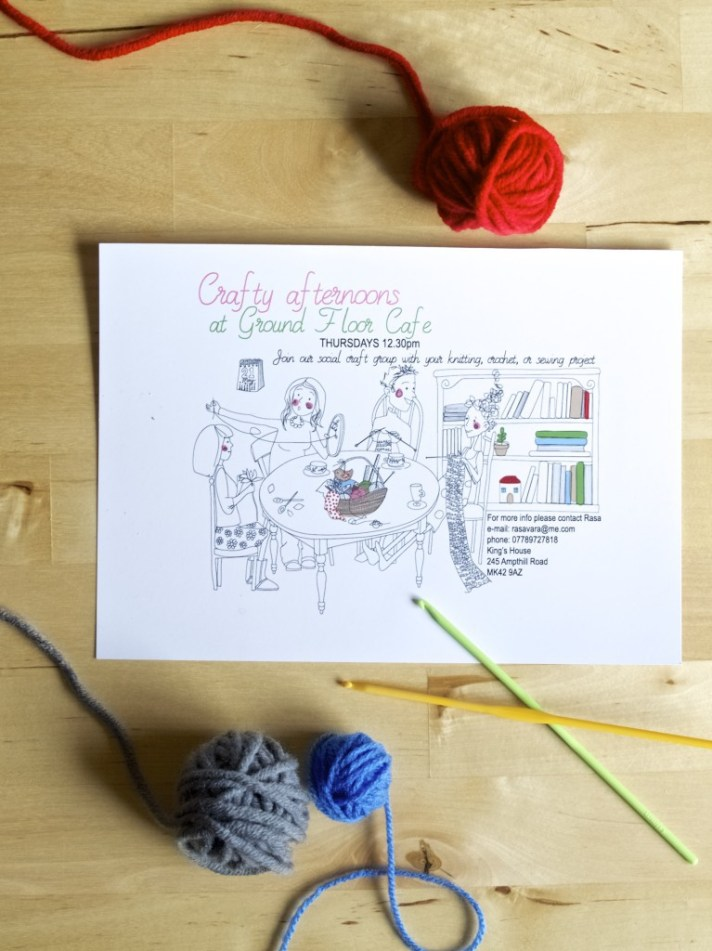 Crafty afternoons in Bedford (join our social group)