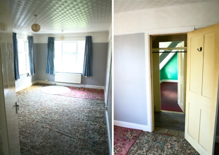 Our new house tour: Master bedroom and walk-through wardobe