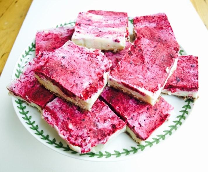 Raw Berry Burst Cheesecake recipe