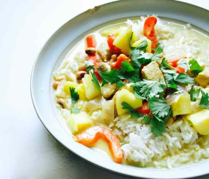 Caribbean chicken curry with pineapple recipe