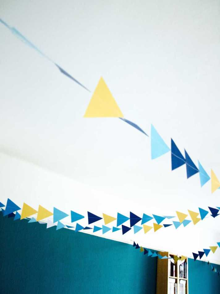Triangle garland DIY